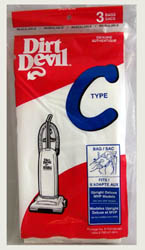 Dirt Devil Type C Paper Bags 3pk #3-700147-001