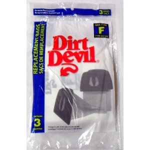 Dirt Devil Type F Paper Bags 3pk #3200147001