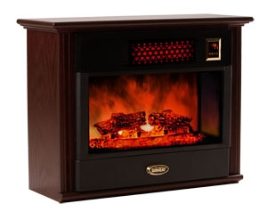 Sunheat Electronic Infrared Fireplace Color: Black Cherry