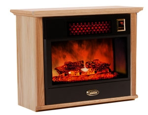 Sunheat Electronic Infrared Fireplace. Color: Natural Oak